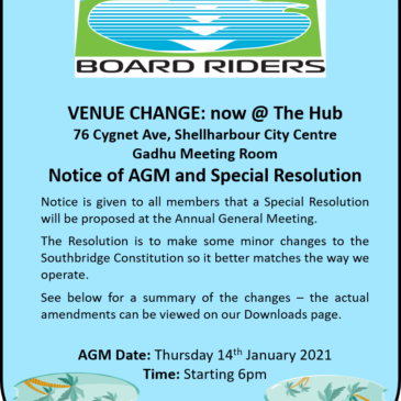 Venue Change for AGM and Special Resolution